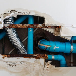 old water pipes in your home