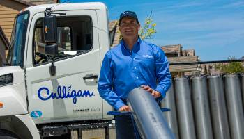 culligan water delivery man